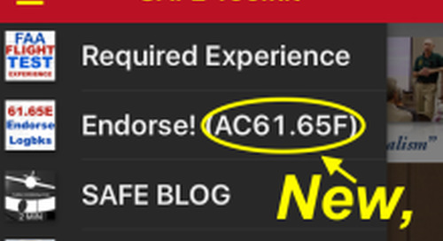 The New AC-61.65 is Available! CFI Power of the Pen!