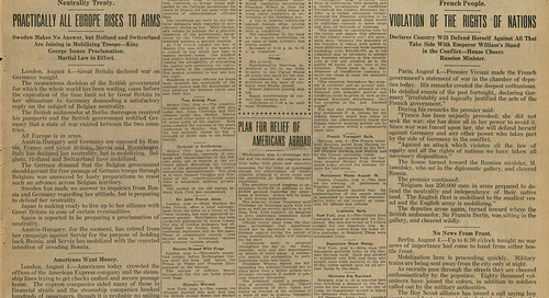 Print Peeks: Waco Newspapers Report on the Beginning of World War I