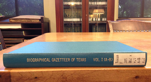 Print Peeks: A Who's Who of Texas History in the Biographical Gazetteer of Texas Online