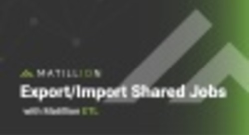 Export and Import Shared Jobs in Matillion ETL