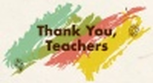 Thank You, Teachers.