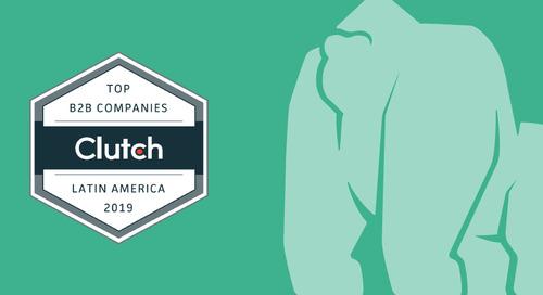 Gorilla Logic Receives Clutch Award as a Top Development Company in Costa Rica & Colombia