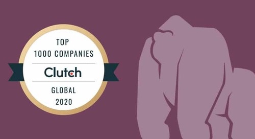 Gorilla Logic Proud to be Named a Top App Development Partner on 2020 Clutch 1000