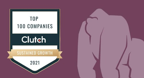 Gorilla Logic Named Clutch Top 100 Company for Sustained Growth