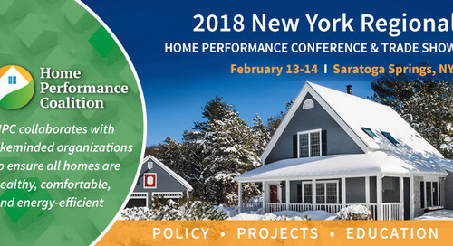 2018 HPC New York Regional Home Performance Conference & Exhibits – Feb. 13-14th