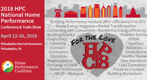 2018 HPC National Home Performance Conference & Trade Show Comes to Philly Next Week!