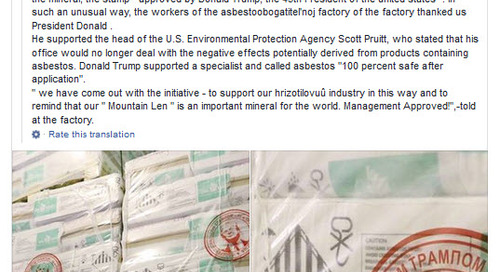 Russian Mining Firm Puts Trump's Face On Its Asbestos Products