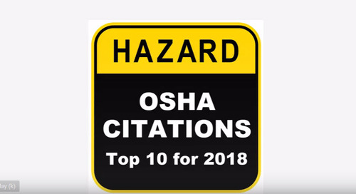OSHA Citations – Top 10 for 2018