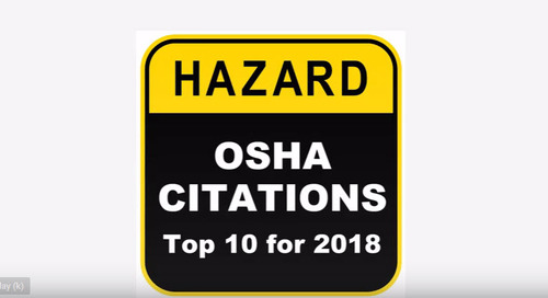 Comment on OSHA Citations – Top 10 for 2018 by RaymondCrulp
