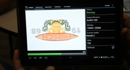 Control Your Embroidery Machines Via Tablet