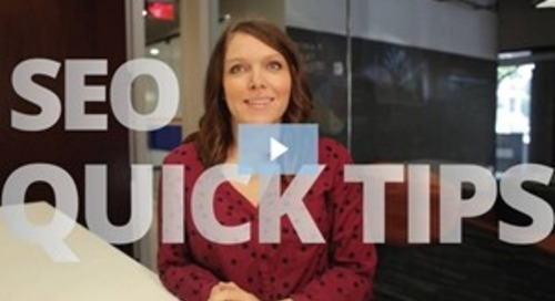 Marketing Video: SEO Basics and Quick Tips