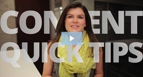 Marketing Video: Content Marketing Quick Tips From A to Z