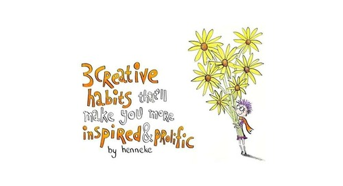 Three Creative Habits to Inspire You and Make You More Productive [Infographic]