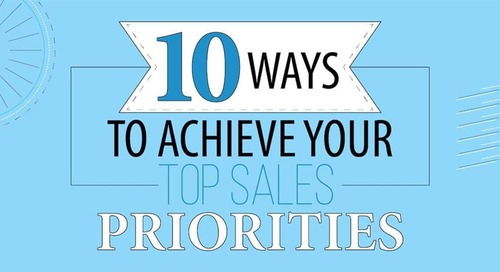 Sales Leaders' Top 10 Priorities for the Year Ahead [Infographic]