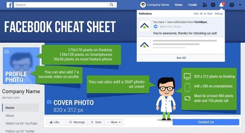 Facebook Image Sizes and Dimensions Cheat Sheet [Infographic]