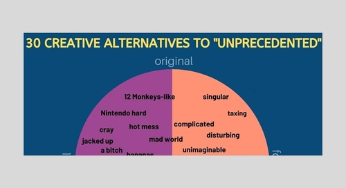 30 Creative Alternatives to 'Unprecedented' in These Unprecedented Times [Infographic]