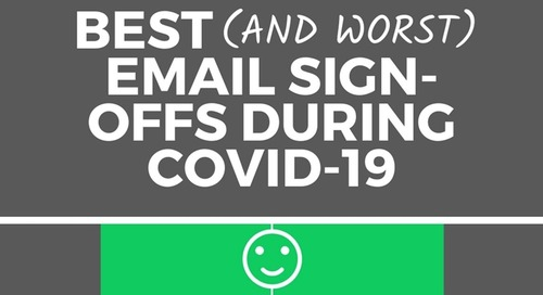 Best (And Worst) Email Signoffs During COVID-19 [Infographic]