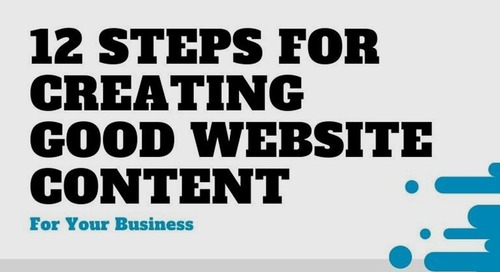 A 12-Step Checklist for Creating Good Website Content [Infographic]