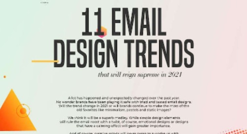 11 Email Design Trends to Watch in 2021