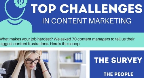 The Biggest Frustrations of Content Managers [Infographic]