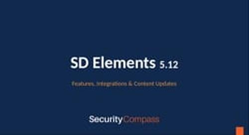 SD Elements 5.12 Updates