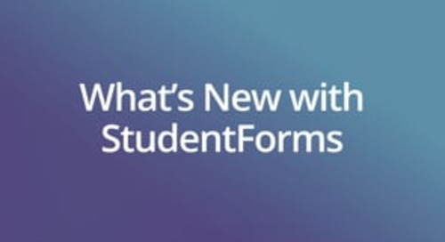 What's New with StudentForms