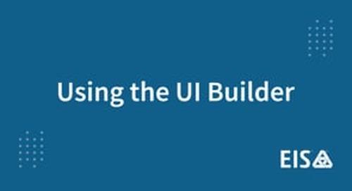 EIS Demo: Using the UI Builder