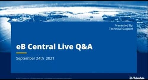 eB Central Live Q&A  - September 2021