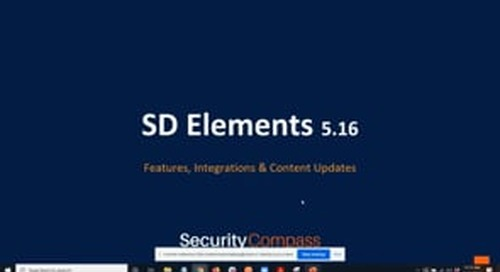 What's New in SD Elements v5.16