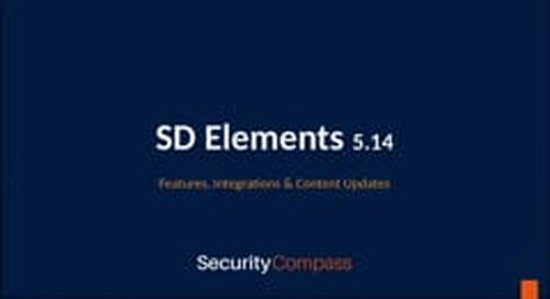 What's New in SD Elements 5.14