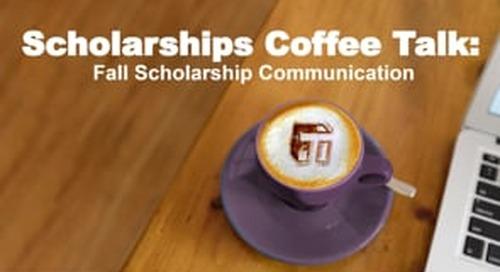 Coffee Talk: Fall Scholarship Communication