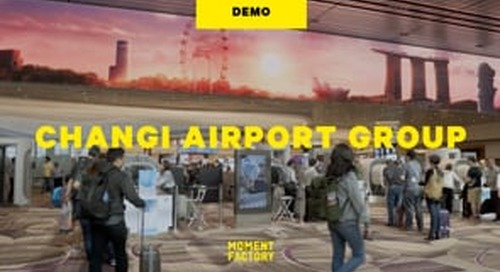 """Changi Airport's Terminal 4 """"Theatre of Experience"""" [DEMO]"""