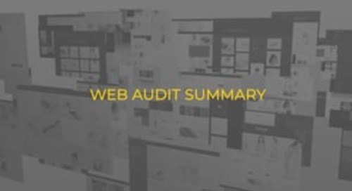 Web Audit Summary