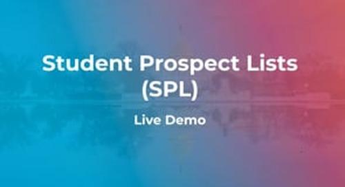 Student Prospect Lists - Enhanced Filtering - Live Demo (2019-2020)