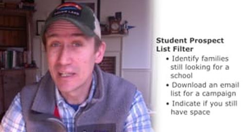 Member Minute: New Student Prospect List Filter
