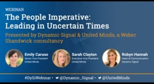 The People Imperative: Leading in Uncertain Times