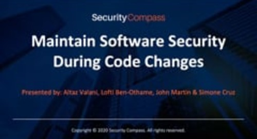 Maintain Software Security During Code Changes