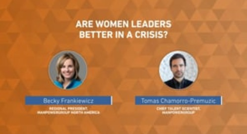 Are women better suited to lead in a crisis?