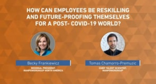 How can people be reskilling and future-proofing themselves for a post-Covid world?