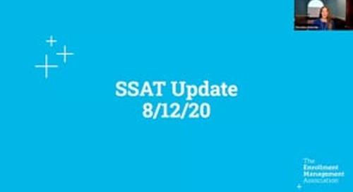 SSAT Update Webinar: August 12