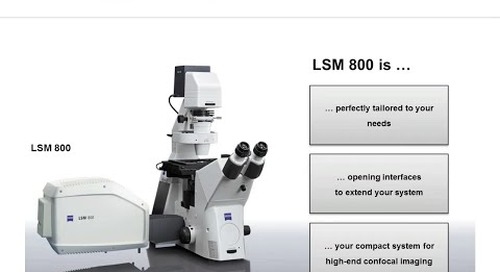 ZEISS Webinar: LSM 800 with Airyscan – Your Compact Confocal Power Pack