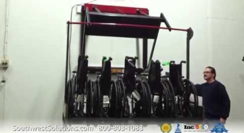 Automatic Wheelchair Storage Wall Lift Racks