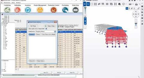 Improved visibility for external processes and progress - Tekla EPM 2020