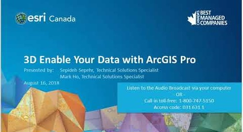 3D Enable Your Data with ArcGIS Pro