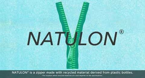 YKK® sustainable zipper: NATULON® (Mechanically Recycled) - short version