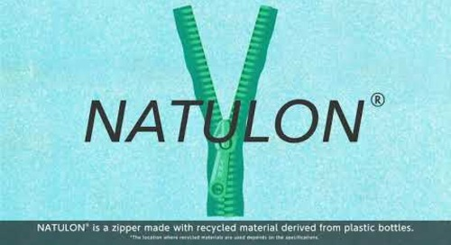 YKK® sustainable zipper: NATULON® (Mechanically Recycled) - short version