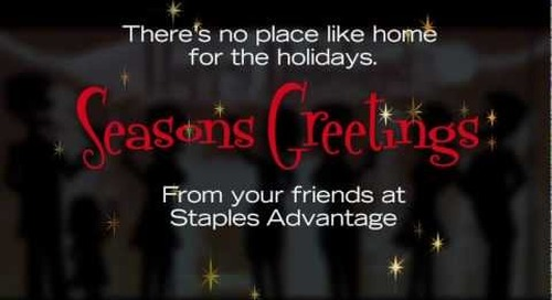 Happy Holidays from Staples Advantage
