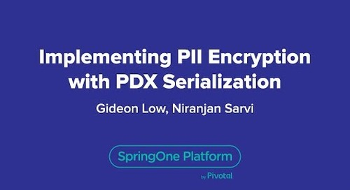 Implementing PII Encryption with PDX Serialization