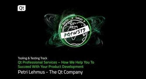 Support for your Qt development project: Qt Professional Services