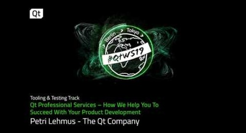 Support for your Qt development project: Qt Professional Services